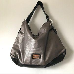 Kenneth Cole Metallic Hobo /Overnight Shoulder Bag